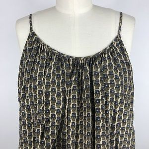 Joie Tops - Joie Owl Print Silk Layered Tank Top